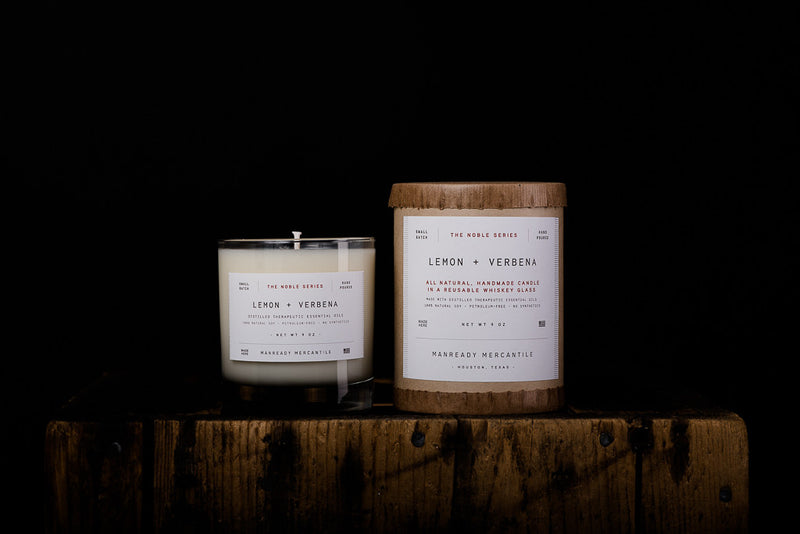 Manready Mercantile Lemon Verbena Soy Wax Candle Noble Series Made in Houston