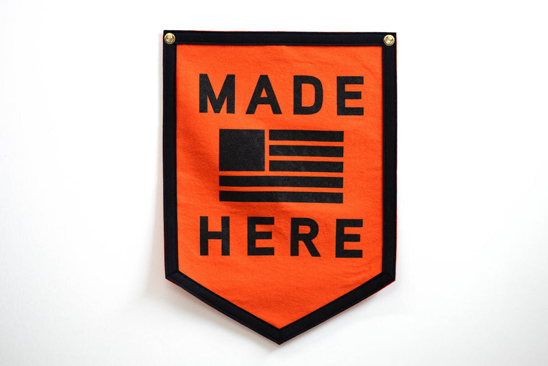 Camp Flag | Made Here | Oxford Pennant x Manready Mercantile - Manready Mercantile