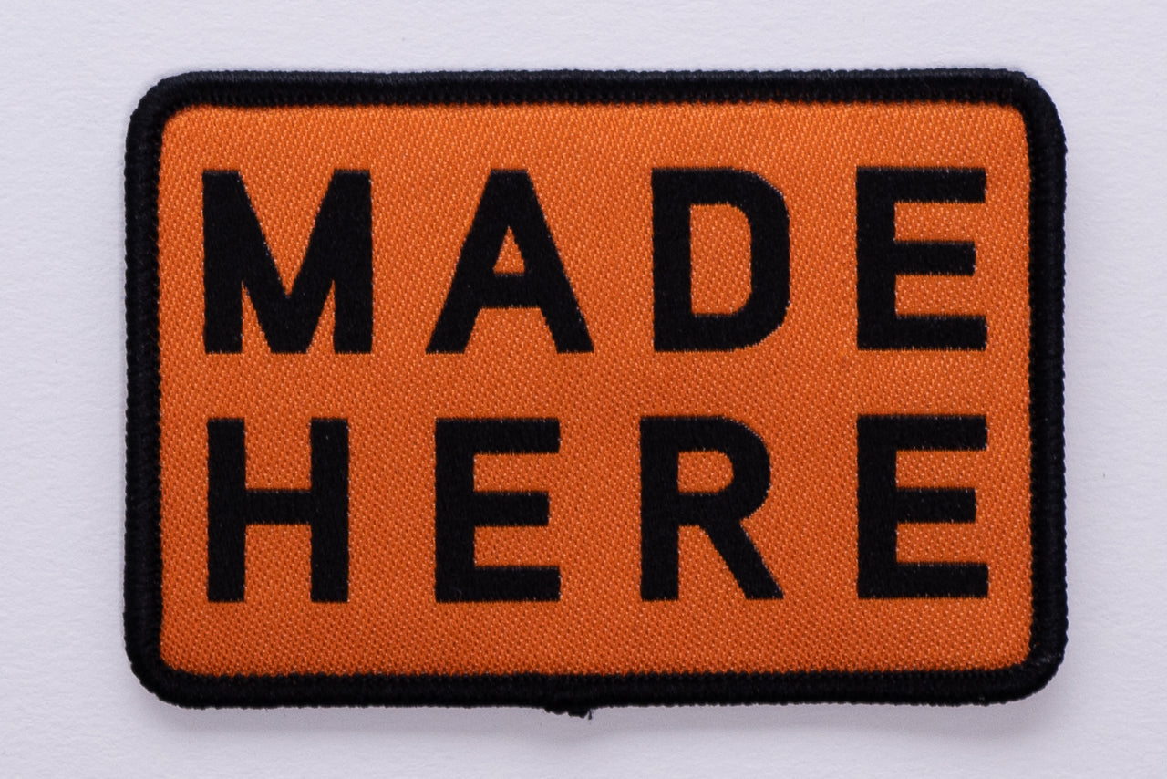 Patch | Made Here Orange | Manready Mercantile