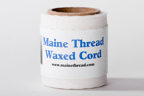 White Waxed Polycord – Maine Thread & Machine Co.