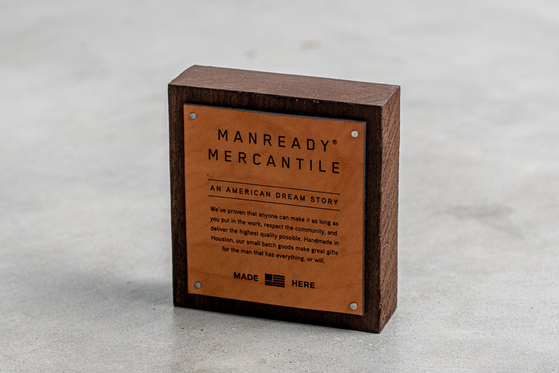 American Dream Story Hardwood Display Block | Manready Mercantile