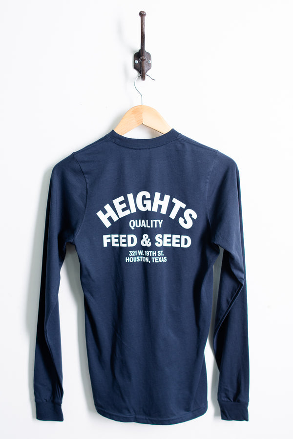 Graphic Tee | LS Heights Feed and Seed | Navy | Manready Mercantile