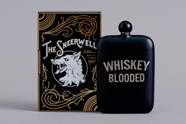 Whiskey Blooded Perdition Flask | The Sneerwell - Manready Mercantile