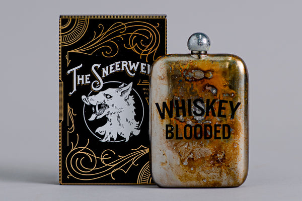 Whiskey Blooded Noble Flask | The Sneerwell