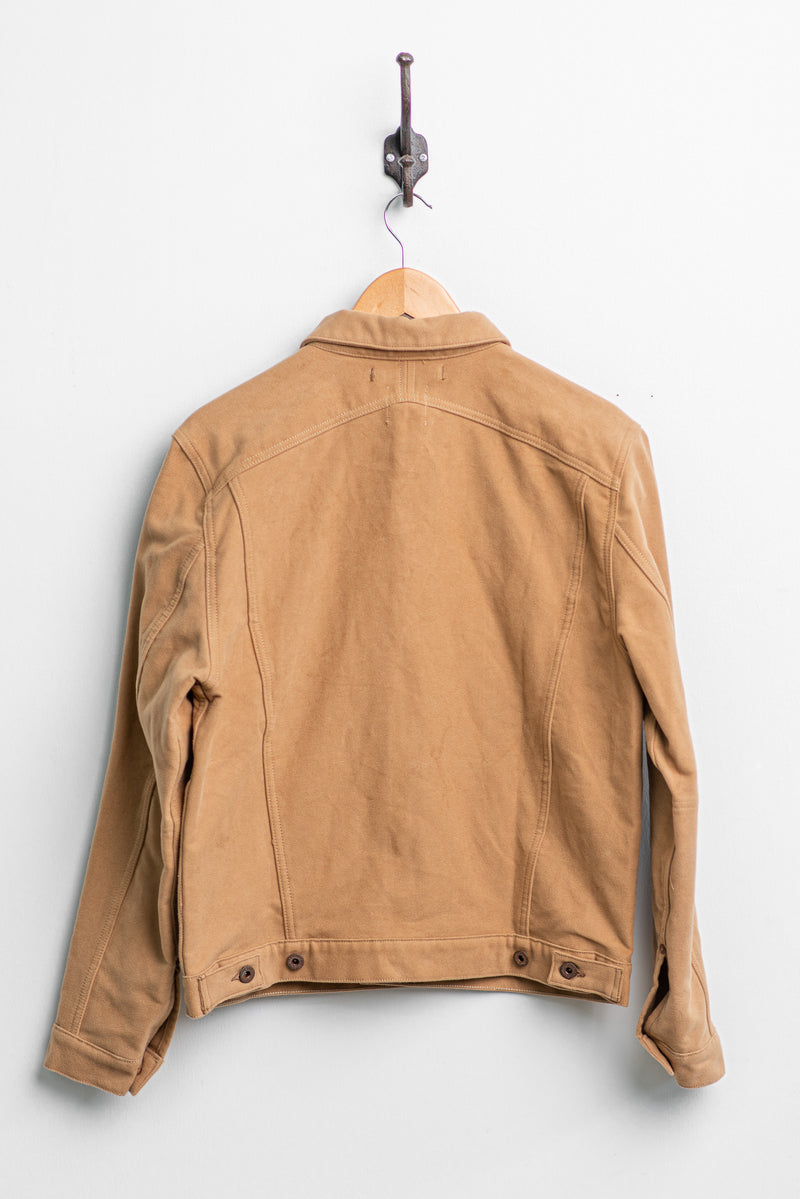 Parsons Lodge Jacket | Tan Heavy Moleskin | Indigofera x Coyote Thunder