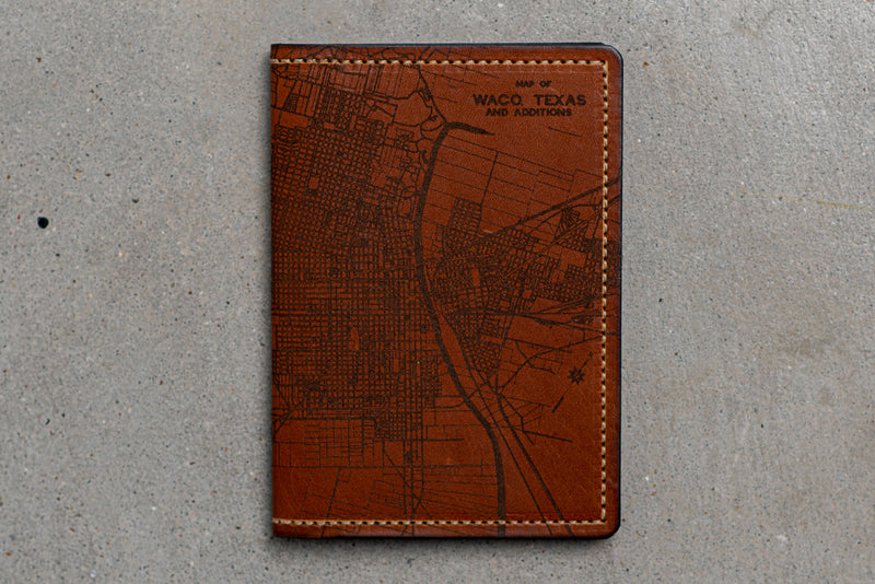 Map Passport Wallet | Waco | Tactile Craftworks - Manready Mercantile