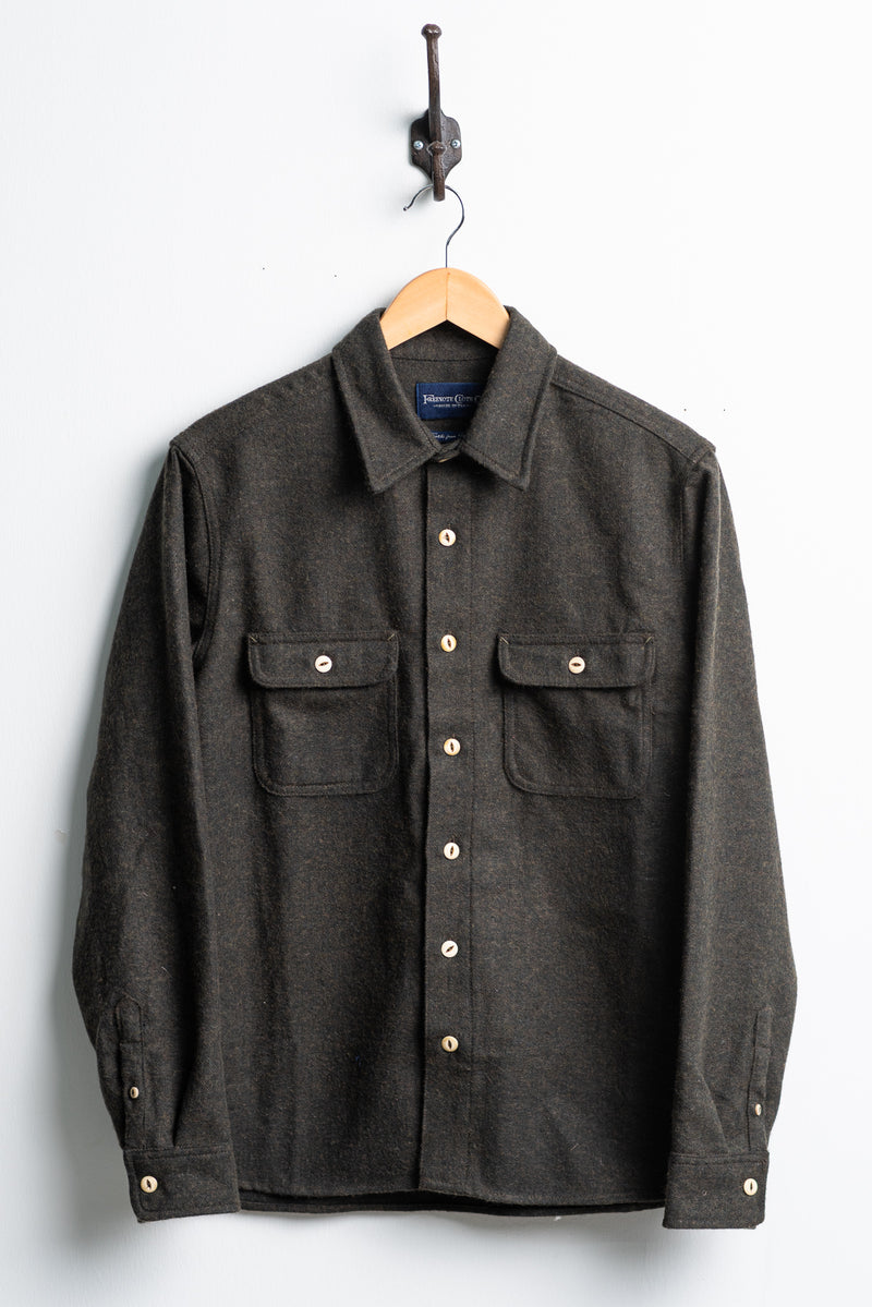 Benson Shirt | Olive Herringbone | Freenote Cloth - Manready Mercantile