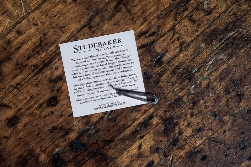 Straight Forged Tie Bar | Work Patina | Studebaker Metals - Manready Mercantile