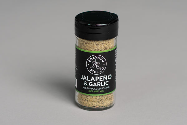 Bravado Spice Jalapeno and Garlic Seasoning available at manready.com