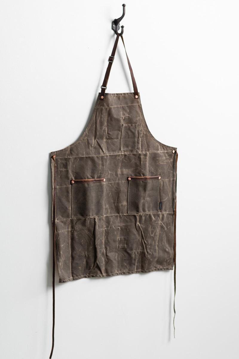 Industry Apron | Dark Oak Waxed Canvas | Hardmill - Manready Mercantile