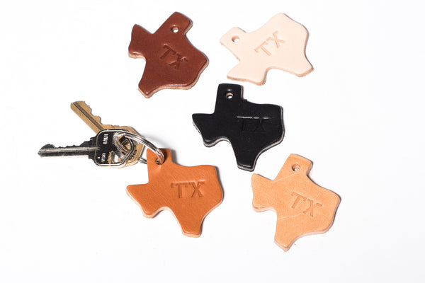 Leather Texas Key Tag | TX | Manready Mercantile