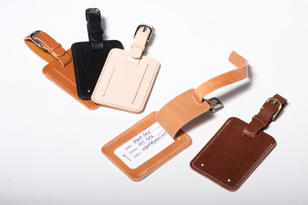 Leather Luggage Tag | Manready Mercantile