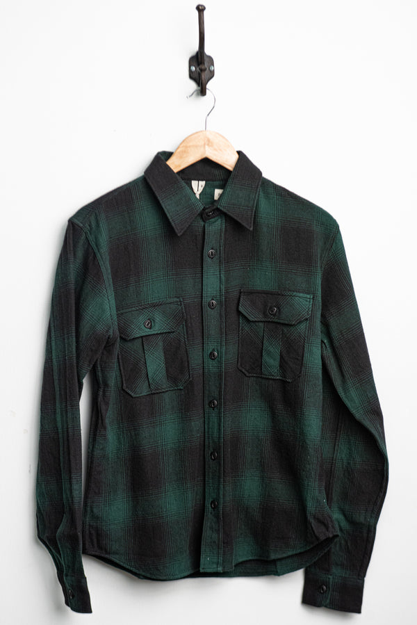 Walton Shirt | Black + Green | Indigofera