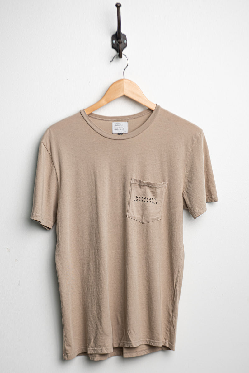 Graphic Pocket Tee | Work Hard Live Well | Clay | Manready Mercantile