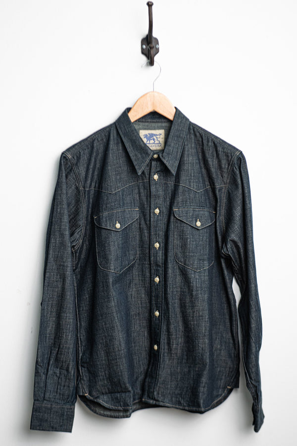 Manolito Shirt | Sanyati Denim 6.5 oz | Indigofera - Manready Mercantile