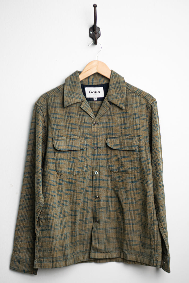 Olive Check Work Shirt | Corridor
