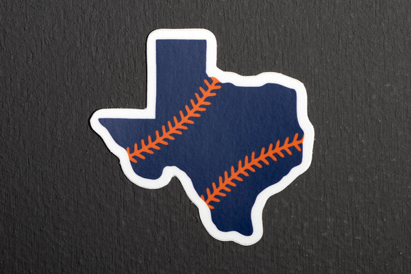 Sticker | Texas Outline Baseball | Manready Mercantile