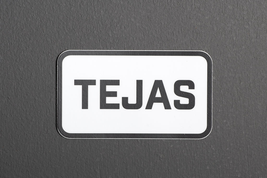 Sticker | TEJAS | White | Manready Mercantile