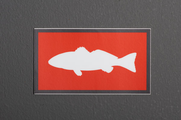 Sticker | Fish | Red + White | Manready Mercantile