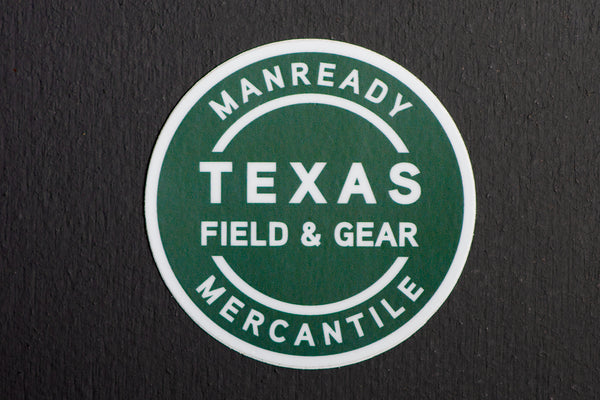 Sticker | Texas Field & Gear | Green | Manready Mercantile - Manready Mercantile