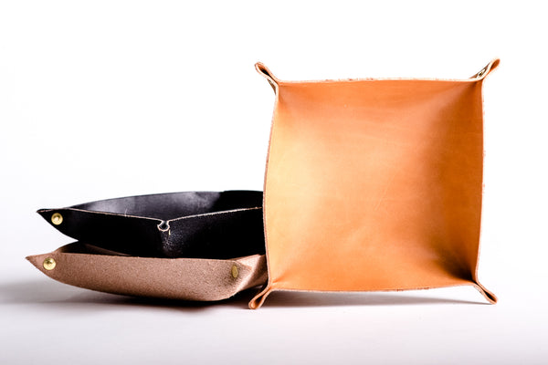 Manready Mercantile Large Leather Valet Tray available at manrready.com