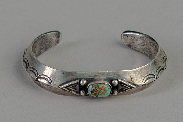 Silver Cuff | Sterling Silver + Turquoise | Red Rabbit Trading Co.