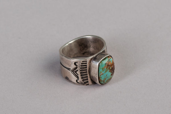 Single Stone Ring | Sterling Silver + Turquoise | Red Rabbit Trading Co.