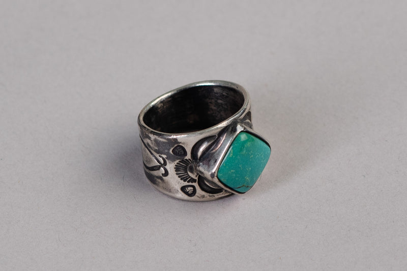Single Stone Ring | Sterling Silver + Turquoise | Red Rabbit Trading Co. - Manready Mercantile
