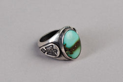 Thunderbird Signet Ring | Sterling Silver + Turquoise | Red Rabbit Trading Co.