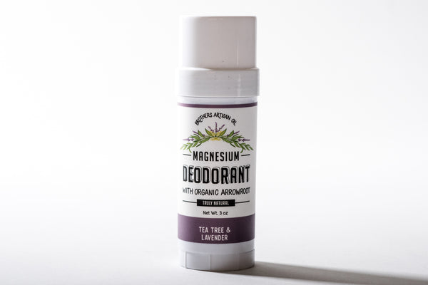 Magnesium Stick Deodorant | Tea Tree + Lavender | Brothers Artisan Oil