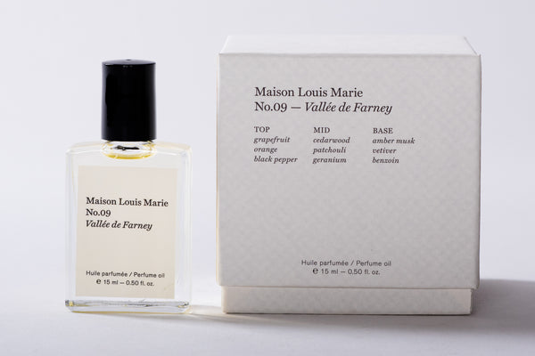 maison louis marie valle de farney cologne perfume grapefruit orange black pepper cedar wood patchouli geranium vetiver amver musk benzoin manready mercantile