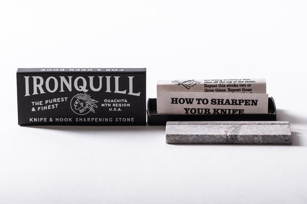 Mollyjoggers ironquill knife sharpener pocket knife wet stone manready mercantile