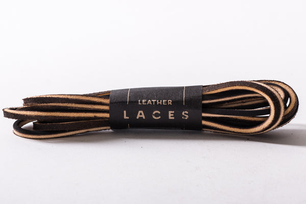 Blackrock Leather Boot Laces in Tan available at Manready Mercantile and manready.com