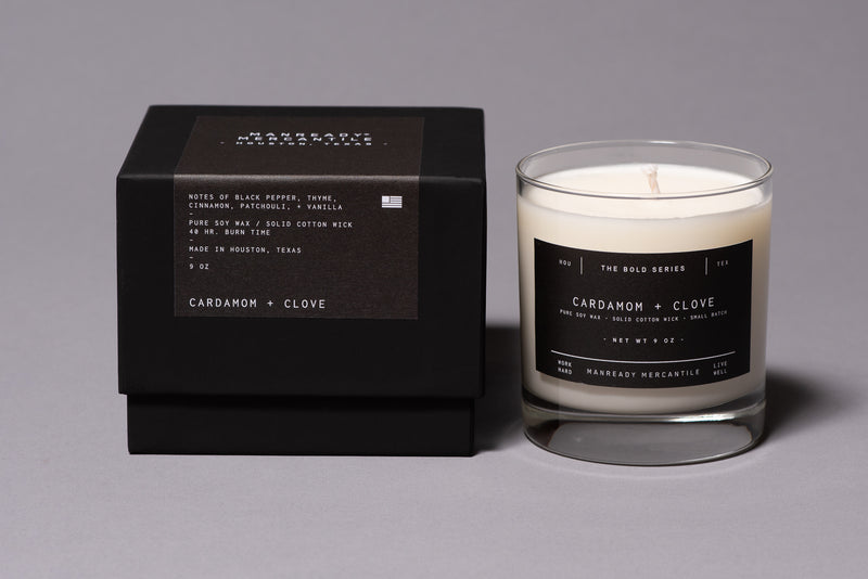 The Bold Series Soy Candle | Cardamom + Clove | Manready Mercantile - Manready Mercantile