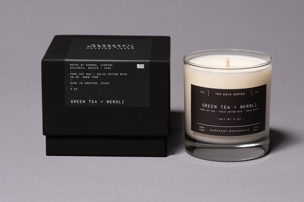 The Bold Series Soy Candle | Green Tea + Neroli | Manready Mercantile - Manready Mercantile