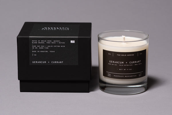 The Bold Series Soy Candle | Geranium + Currant | Manready Mercantile - Manready Mercantile