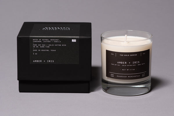 The Bold Series Soy Candle | Amber + Iris | Manready Mercantile - Manready Mercantile