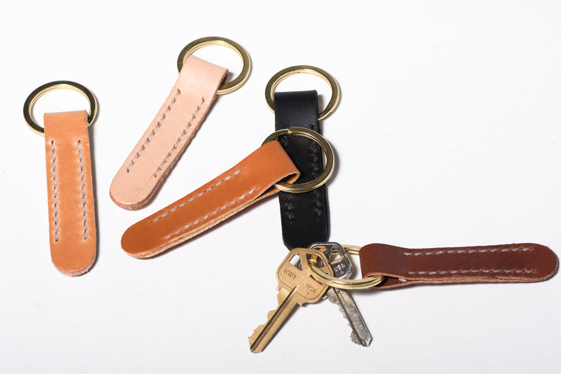 Manready Mercantile Leather Key Fob with Brass Ring available at manready.com