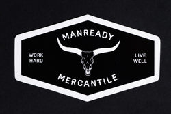 Sticker | Work Hard Live Well Longhorn | Black | Manready Mercantile