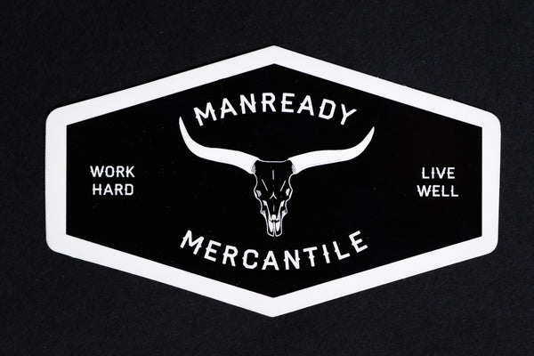 Longhorn Sticker | Black | Manready Mercantile