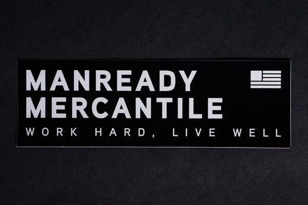 Manready Mercantile Sticker | Black