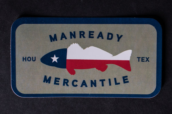 TX Flag Fish Sticker | Manready Mercantile