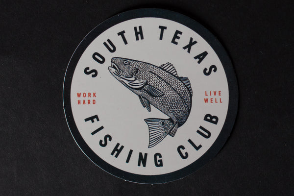 Sticker | South Texas Fishing Club | White | Manready Mercantile - Manready Mercantile