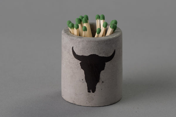 Concrete Match Holder | Longhorn | M. Hagelsieb