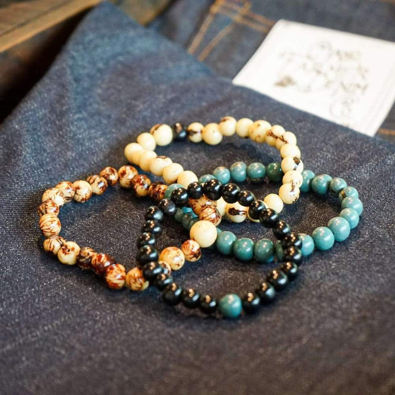 Acai Bead Bracelet | Odin Leather Goods
