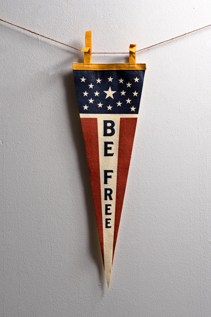 Pennant | Be Free | Oxford Pennant - Manready Mercantile
