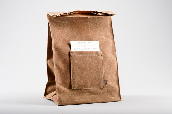 Waxed Canvas Marlowe Lunch Bag | Peg + Awl
