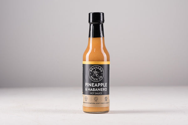 Bravado Spice Co Hot Sauce Made in Houston Texas Pantry Kitchen BBQ Manready Mercantile Pineapple Habanero