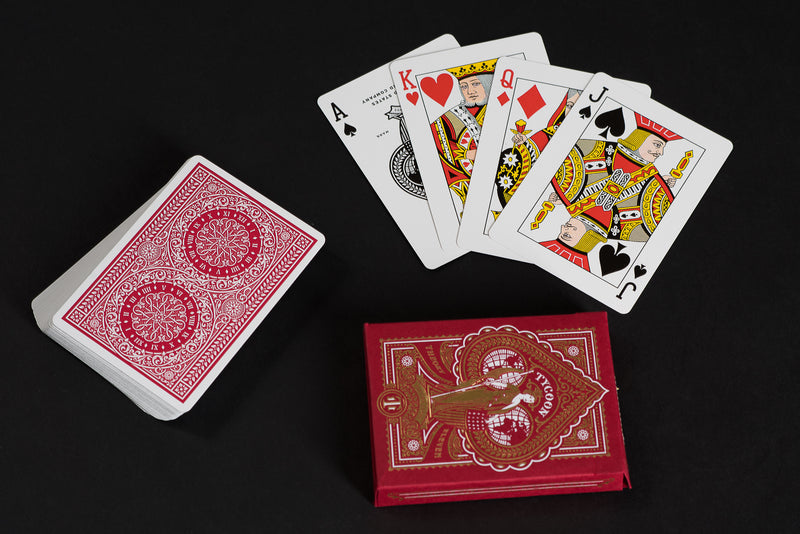 Tycoon Playing Cards | Red | Theory 11