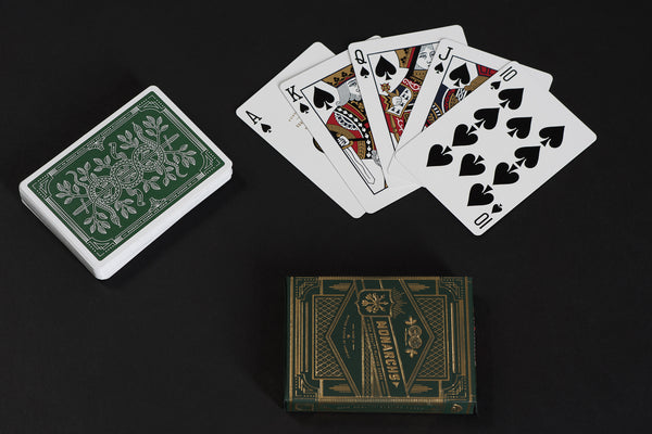 Monarch Play Cards in Green by Theory 11 available at Manready Mercantile and manready.com